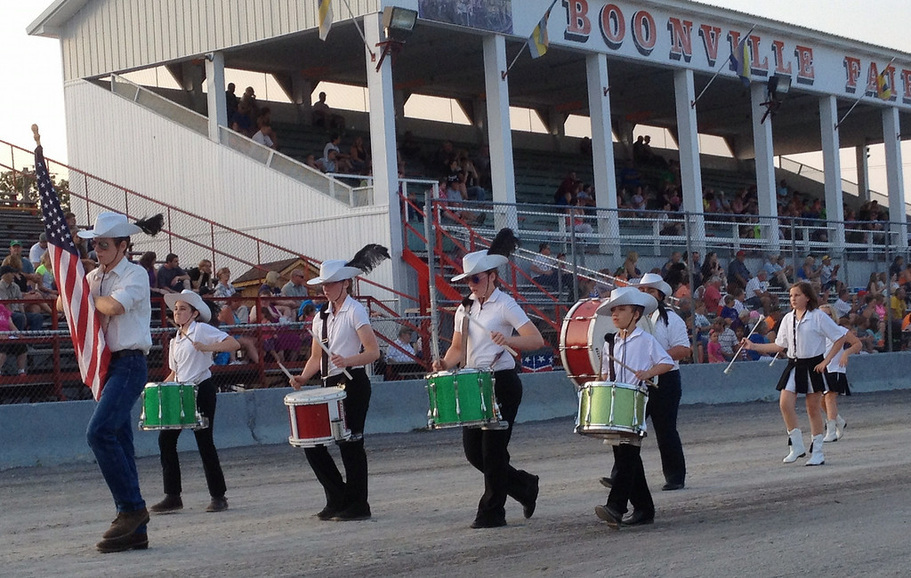 Description of . Black River Drummers and Twirlers  take part in the annual parade at the Boonville Oneida County Fair on Tuesday, July 22, 2014 in Boonville. the fair runs through Sunday, July 27, 2014.  JOHN HAEGER-ONEIDA DAILY DISPATCH @ONEIDAPHOTO ON TWITTER
