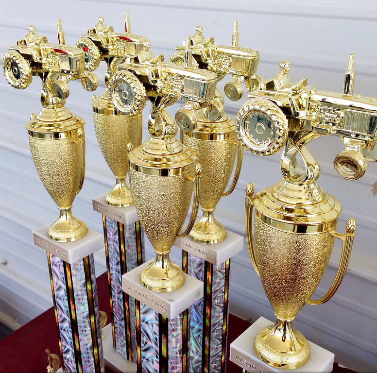 Description of . Trophies for the tractor pull competition at the Boonville Oneida County Fair on Thursday, July 24, 2014 in Boonville. The fair runs through Sunday, July 27, 2014. JOHN HAEGER-ONEIDA DAILY DISPATCH @ONEIDAPHOTO ON TWITTER